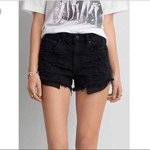 American Eagle Black High-waisted Shorts